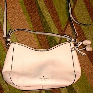 Authentic Kate Spade feminine ivory shoulder purse
